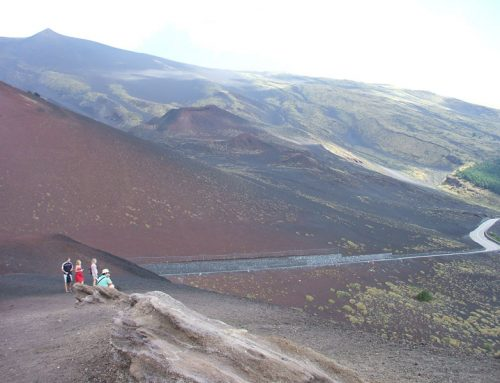 North Etna with geologist